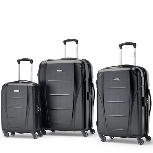 Samsonite Winfield NXT Spinner 3 Piece Set (CO/Med/Lrg) in the color Brushed Black.