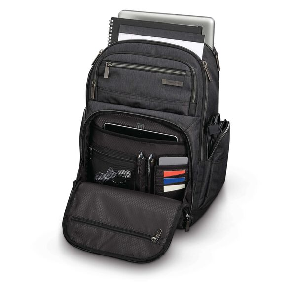 Samsonite Modern Utility Double Shot Backpack in the color Charcoal Heather/Charcoal.