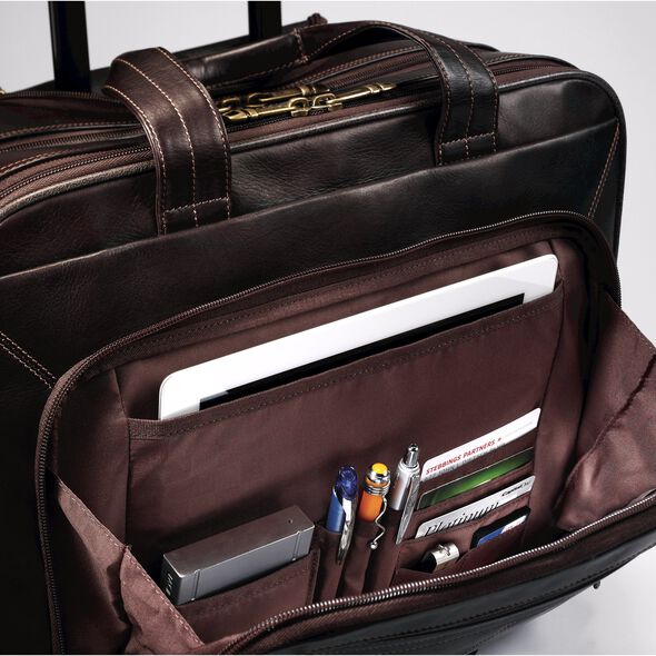 Samsonite Columbian Leather Mobile Office in the color Brown.
