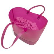 Lipault Pop N Gum Beach Bag in the color Deep Fuchsia.