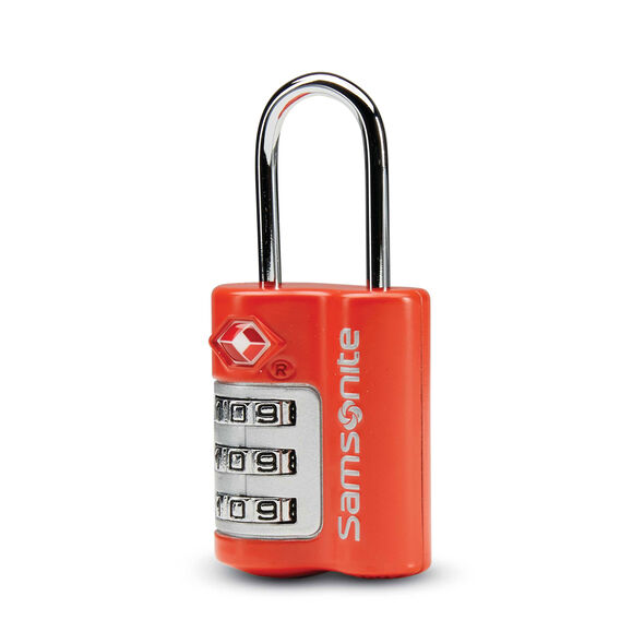 Samsonite 3 Dial Travel Sentry Combination Lock in the color Varsity Red.