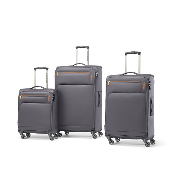 American Tourister Bayview NXT Spinner 3 Piece Set (CCO, Med, Lrg) in the color After Dark.