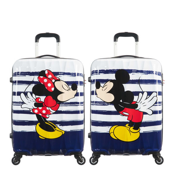 American Tourister Disney Legends Spinner Carry-On in the color Minnie Kiss.