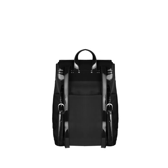 Lipault Plume Vinyle Backpack S Bi-Material in the color Black.