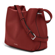 Lipault By The Seine Bucket Bag in the color Cherry Red.