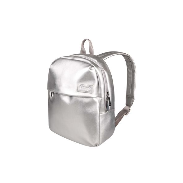 Lipault Miss Plume Backpack XS in the color Silver.