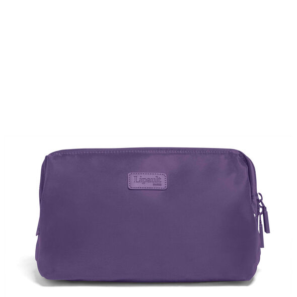 """Lipault Plume Accessories 12"""" Toiletry Kit in the color Light Plum."""