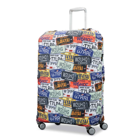 Samsonite Printed Luggage Cover - M in the color License Plate.