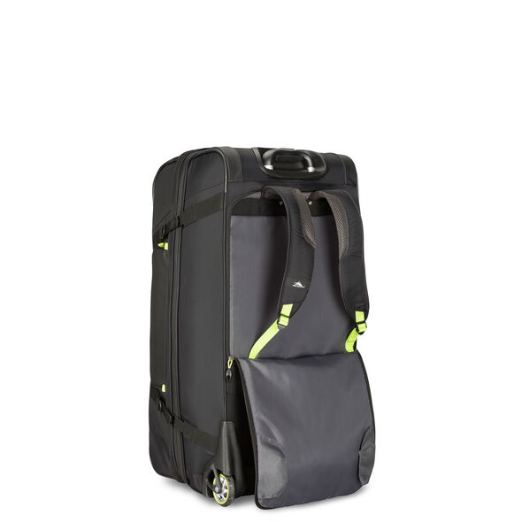 "High Sierra AT8 32"" Wheeled Duffle Upright in the color Black Zest."