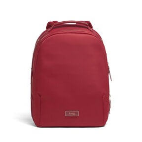 Lipault Business Avenue Backpack M in the color Garnet Red.