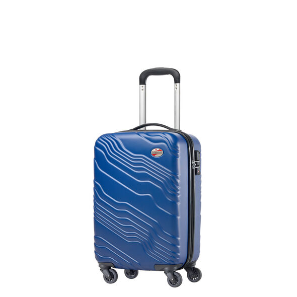 Canadian Shield Spinner Carry-On in the color Pacific Blue.