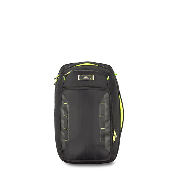 High Sierra AT8 Convertible Carry-On in the color Black Zest.