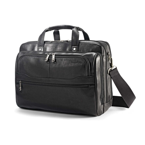 Samsonite Columbian Leather 2 Pocket Business Case in the color Black.