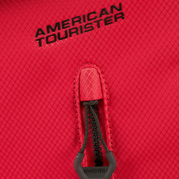 American Tourister Litewing Spinner Carry-On in the color Formula Red.