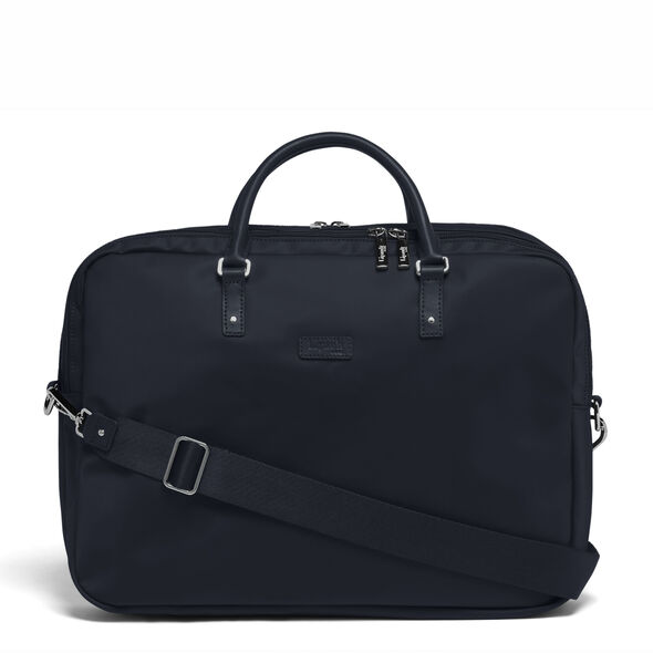 "Lipault Lady Plume FL Laptop Bailhandle (15.6"") in the color Navy."