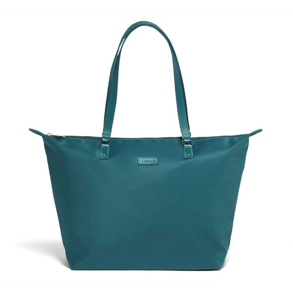 Lipault Lady Plume FL Tote Bag M in the color Duck Blue.