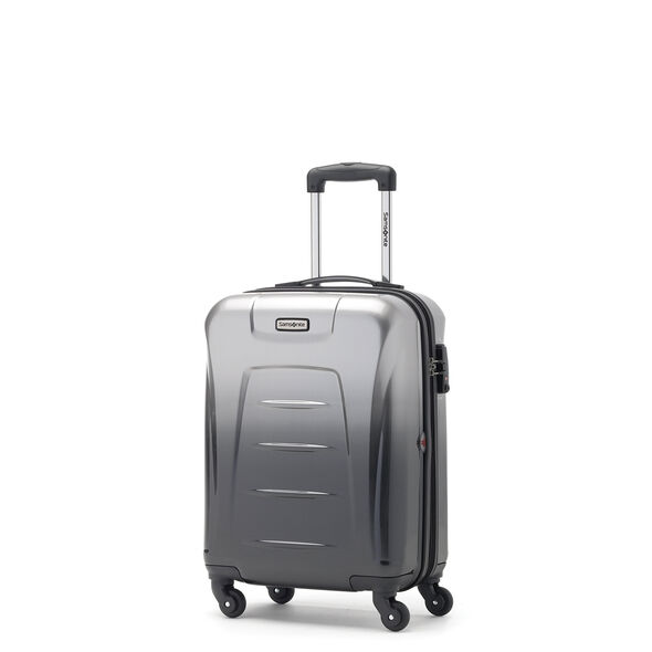 Samsonite Winfield 3 Fashion Spinner Carry-On Widebody in the color Silver/Charcoal (ombre).