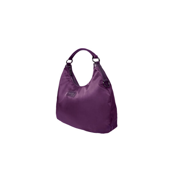 Lipault Lady Plume Hobo Bag M in the color Purple.