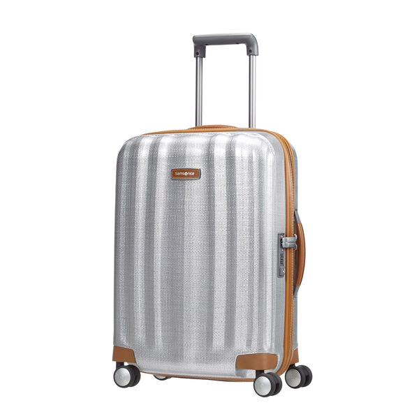 Samsonite Black Label Lite-Cube DLX Spinner Carry-On in the color Aluminum.