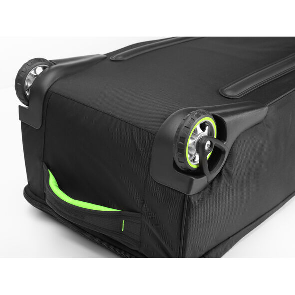 High Sierra Adjustable Wheeled Ski/Snowboard Bag in the color Black/Zest.