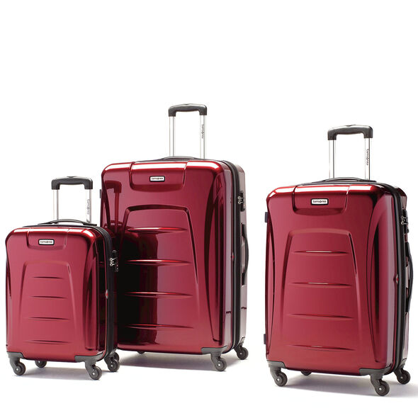 Samsonite Winfield 3 3 Piece Set in the color Dark Red.