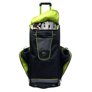 "High Sierra 30"" Trapezoid Wheeled Duffel in the color Black/Charcoal/Chartreuse."