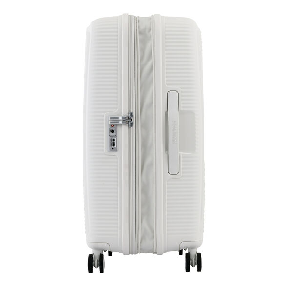 American Tourister Curio Spinner Medium in the color White.