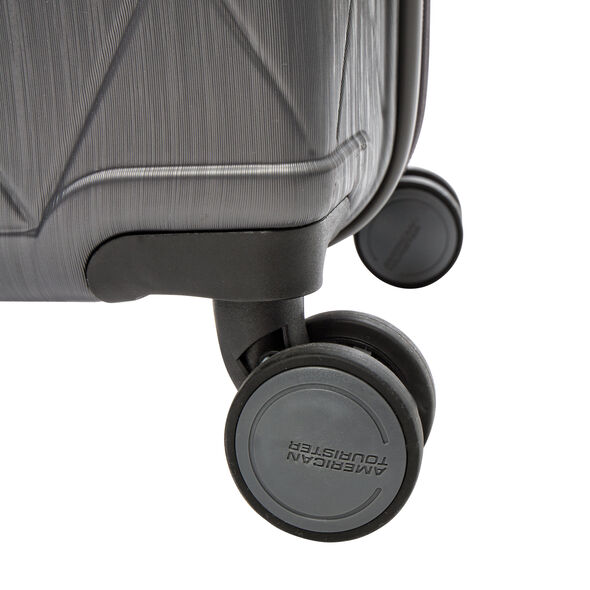 American Tourister Edge Spinner 3 Piece Set (CO/Med/Lrg) in the color Asphalt Grey.