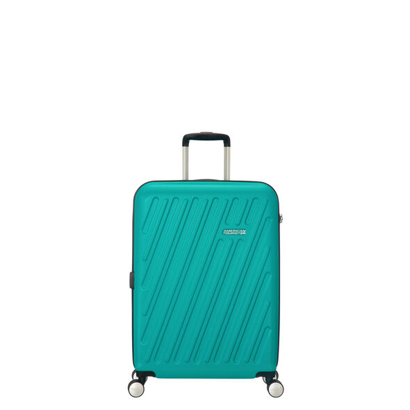 American Tourister Hypercube Spinner Carry-On in the color Aqua Turquoise.