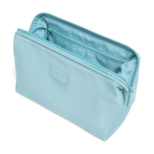 """Lipault Plume Accessories 12"""" Toiletry Kit in the color Coastal Blue."""