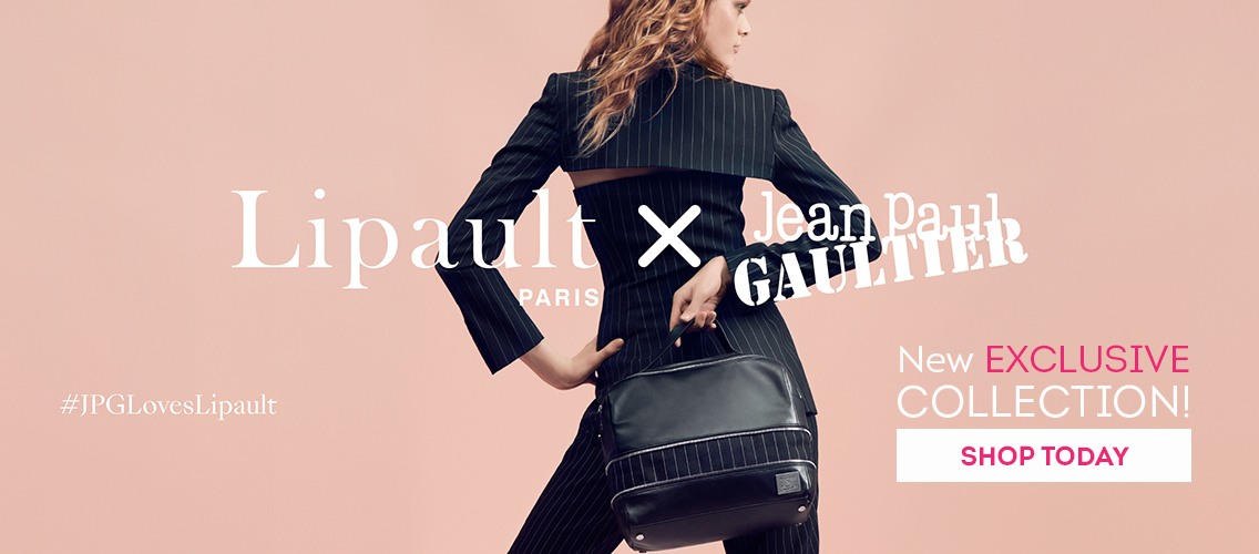New EXCLUSIVE Collection: Lipault Paris x Jean Paul Gaultier! #JPGLovesLipault Shop today!
