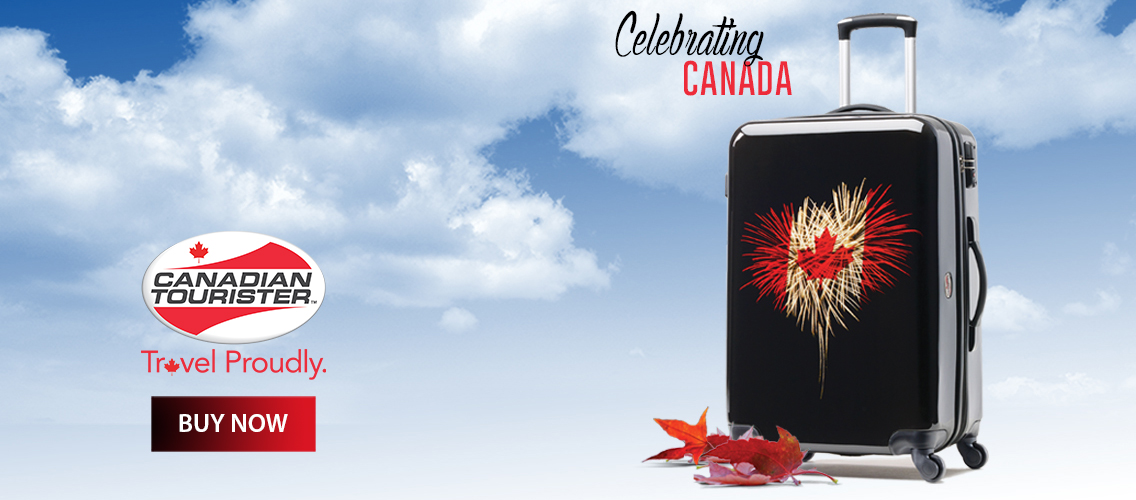 Celebrate Canada with this limited edition Canadian Tourister suitcase!