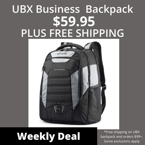 Weekly Deal - UBX Backpack Now $59.95+ Free Shipping!  Shop Now!